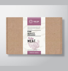 Fine quality organic poultry craft cardboard box vector