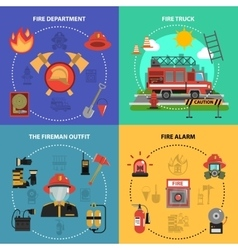 Fire Fighting Set vector image