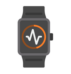 fitness tracker flat icon fitness and sport vector image