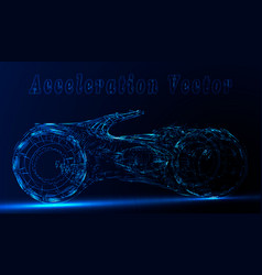 futuristic motorcycle or bike from neon lines on vector image