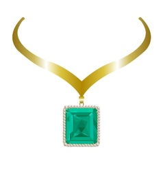 Gold necklace vector image