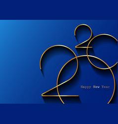 Golden 2020 new year logo holiday greeting card vector
