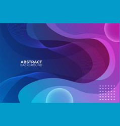 gradient abstract blue and pink fluid background vector image