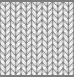 Gray knit texture seamless pattern vector