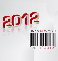 greeting card 2012 with barcode vector image