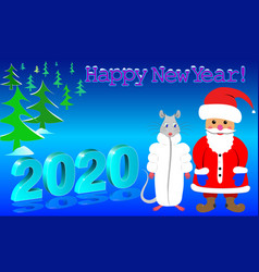 Happy new year 2020 poster vector
