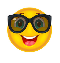 Happy smiley in sunglasses vector