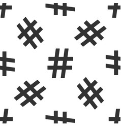 Hashtag icon seamless pattern on white background vector