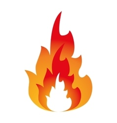 Hot flame spurts fire design vector