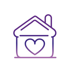 house love heart charity help donation vector image