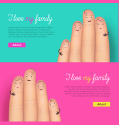 I love my family poster set vector