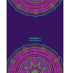 Invitation or card with colorful mandala design vector