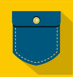 Jeans pocket icon flat style vector