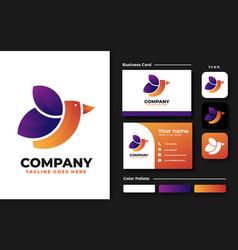 leaf bird logo design inspiration vector image