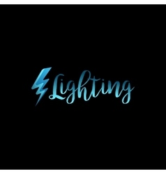 Lightning icon with lettering vector image