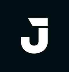 logo letter j wing vector image