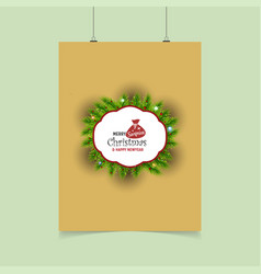 merry christmas suprice xmas label template vector image