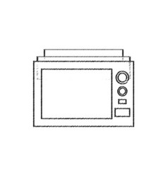 Microwave appliance electric line vector
