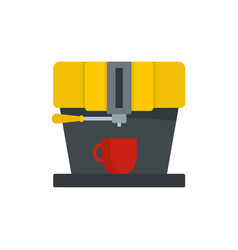 modern coffee machine icon flat style vector image