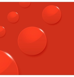Modern glossy circles on red background vector