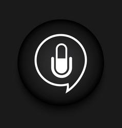 modern microphone black circle icon vector image