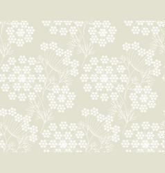 modern shapes dill or fennel seamless pattern vector image