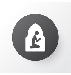 namaz room icon symbol premium quality isolated vector image