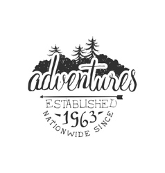 Nationwide Adventures Vintage Emblem vector image