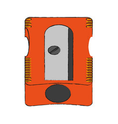 Pencil sharpener school supply icon image vector