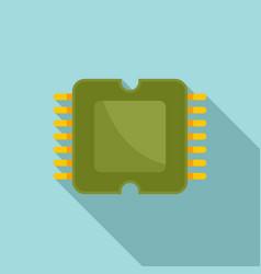 Phone processor icon flat style vector