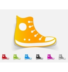 realistic design element gumshoes vector image