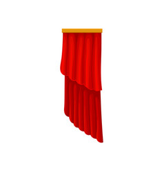 Red velvet curtains for theater or opera house vector