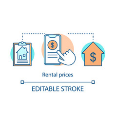 Rental prices concept icon vector