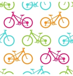 Retro bike seamless pattern vector image
