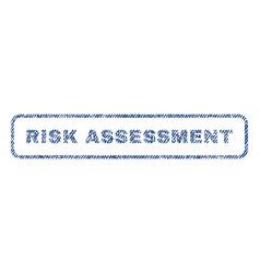 Risk assessment textile stamp vector