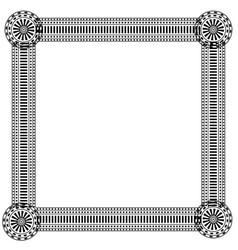 Round ornament pattern mandala vector