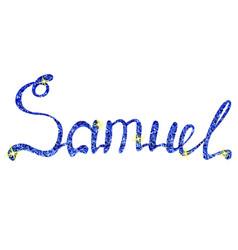 Samuel name lettering tinsels vector