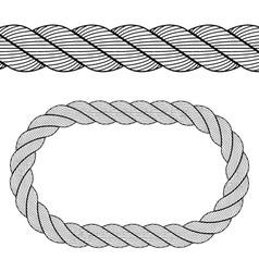 seamless black rope symbol vector image