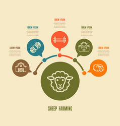 Sheep farming icon and agriculture infographics vector