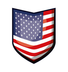 Shield of flag united states of america colorful vector