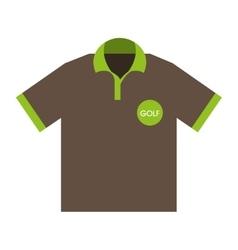 shirt sport golf uniform icon vector image