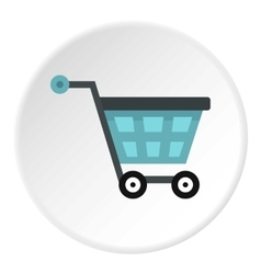 Shopping cart icon flat style vector image