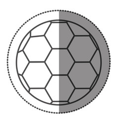 Sticker grayscale contour with soccer ball vector