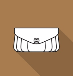Stylish handbag icon vector