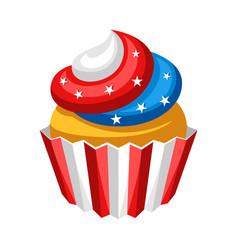stylized cupcake vector image