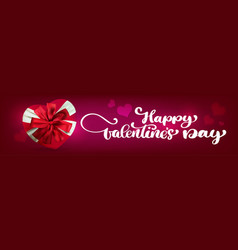 text handwriting happy valentines day banners vector image