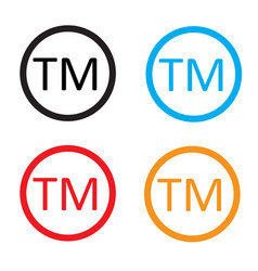 Trade mark sign trade mark icon on white vector