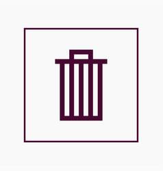 trash icon simple vector image