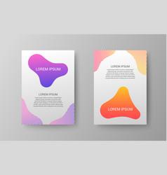 trendy brochure covers vector image