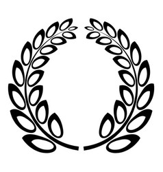 trophy wreath icon simple style vector image